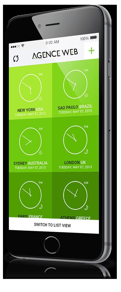 création d'application mobile agence web